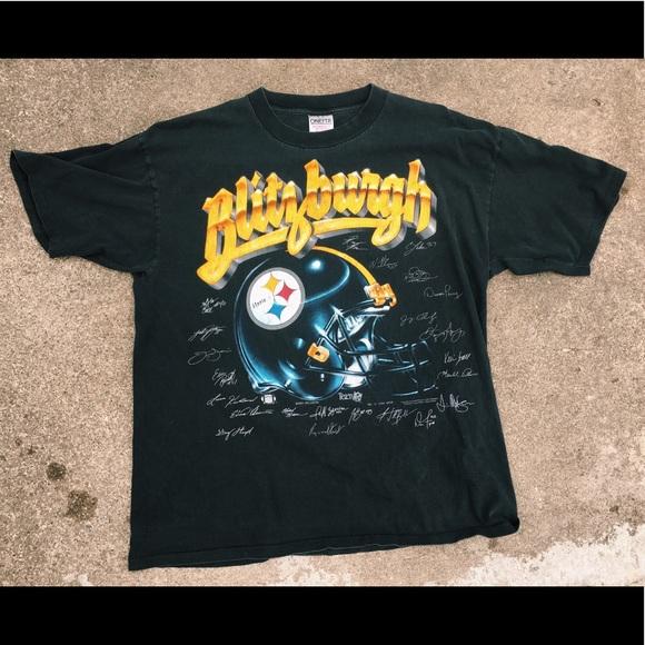 22ba5b25402 ONEITA Shirts | Pittsburgh Steelers Vintage Blitzburgh Tee | Poshmark